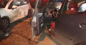 Τροχαίο ατύχημα στα Χανιά - Εγκλωβίστηκε η οδηγός στο όχημα (φωτο)
