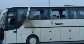 Επιτέθηκαν σε λεωφορείο που πήγαινε στη Θεσσαλονίκη