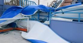 Ζημιές από τους θυελλώδεις ανέμους στο Κολυμβητήριο Χανίων