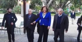 Η Ντόρα Μπακογιάννη στην κοπή πίτας της ένωσης δημάρχων Κρήτης