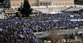 Λαοθάλασσα στο Σύνταγμα στο συλλαλητήριο για το Σκοπιανό