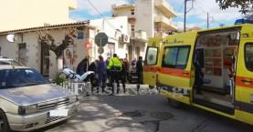 Αυτοκίνητο χτύπησε πεζό στην συνοικία του Αγ. Ιωάννη στα Χανιά (φωτο)