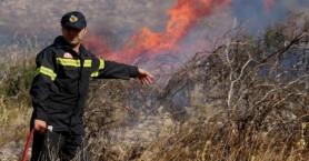 Πυρκαγιά απειλεί σπίτια στο Αμάρι