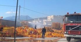 Πυρκαγιά σε εργοστάσιο αναψυκτικών στην Μεσαρά
