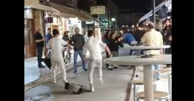 Πιάστηκαν στα χέρια το βράδυ στη Χάληδων στο παλιό λιμάνι (video)