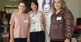 Γυναίκες αστυνομικοί σε συνέδριο για τον θηλασμό