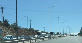 Τροχαίο έφερε ουρές χιλιομέτρων στην Ε.Ο. Ηρακλείου-Αγίου Νικολάου