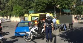 Τροχαίο ατύχημα με το καλημέρα στο κέντρο των Χανίων (φωτο)