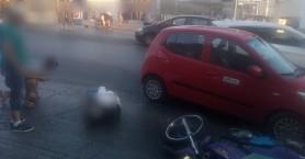 Μηχανή συγκρούστηκε με αυτοκίνητο στον Μακρύ Τοίχο στα Χανιά