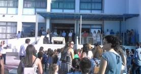 Ο Περιφερειάρχης Κρήτης στον αγιασμό στο νέο σχολικό συγκρότημα Ασημίου