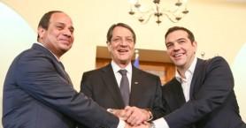 Στην Ελούντα Τσίπρας – Αναστασιάδης – Αλ Σίσι για την ενεργειακή συνεργασία