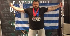 Χρυσό μετάλλιο για τον Παντελή Σαπουνάκη στο Mr Olympia Pro Powerlifting