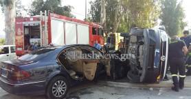 Σοβαρό τροχαίο ατύχημα με 4 τραυματίες στη Λεωφ. Σούδας στα Χανιά (φωτο)