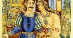 Ο Ερωτόκριτος ανεβαίνει στον προμαχώνα του Αγίου Παύλου στη φορτέτζα Ρεθύμνου