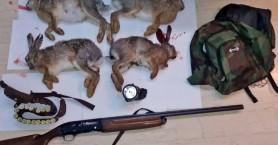 Τον έπιασαν νύχτα στο Ρέθυμνο με τέσσερις σκοτωμένους λαγούς (φωτο)