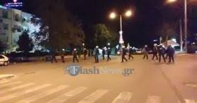 Κρήτη: Πετροπόλεμος και μολότοφ μετά την πορεία για τον Γρηγορόπουλο (φωτο)