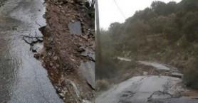 Δρόμος άνοιξε στα δύο στην Κίσαμο - Δεκάδες κάτοικοι εγκλωβισμένοι (βίντεο)