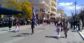 Με τη μαθητική, στρατιωτική παρέλαση κορυφώθηκε ο εορτασμός της 25ης Μαρτίου και στα Χανιά