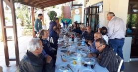 Το γλέντι συνεχίστηκε για 2η ημέρα με τραπέζι του υποψηφίου δημάρχου Πλατανιά Δ. Ανθούση