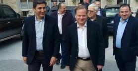Καραμανλής - Αυγενάκης στο ΚΤΕΛ Ηρακλείου - Λασιθίου (φώτος)