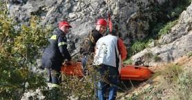 Επιχείρηση διάσωσης τραυματία στο φαράγγι Τοπολίων