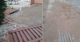 Διέλυσαν το πάρκο στην Αμπεριά στα Χανιά (φωτο)
