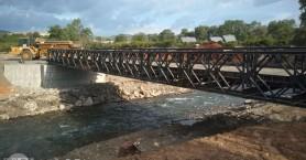 Τοποθετήθηκε η γέφυρα Μπέλεϋ στον Κερίτη όμως η πρόσβαση παραμένει ακατάλληλη (φωτο)