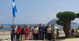 Για 14η χρονιά γαλάζια σημαία στην παραλία μπροστά από το ξενοδοχείο ''Porto Platanias''