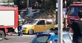 Πυρκαγιά σε αυτοκίνητο στον Βλητέ Σούδας (φωτο)