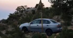 «Άγιο» είχε οδηγός μετά από βουτιά σε γκρεμό 40 μέτρων στην Ανατολή