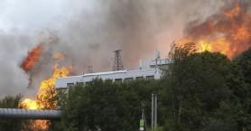 Ένας νεκρός και 13 τραυματίες από την πυρκαγιά σε θερμοηλεκτρικό σταθμό στην Μόσχα
