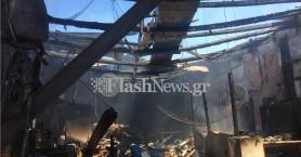 Ανυπολόγιστες ζημιές από φωτιά σε ελαιουργείο στον Κάτω Σταλό (φωτο - βίντεο)