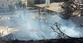 Φωτιά έφτασε στις αυλές σπιτιών στα Χανιά - Κάηκαν τρία αυτοκίνητα (φωτο)