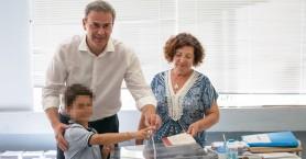 Στον Πλατανιά άσκησε το εκλογικό του δικαίωμα ο Δημήτρης Φραγκάκης.