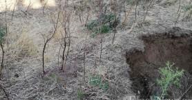 Υποχώρησε η γη μετά από δόνηση σε χωριό των Σφακίων - Γεωλόγοι στην περιοχή (φωτο)