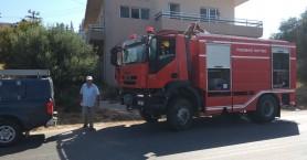Φωτιά κοντά σε σπίτι στα Χανιά μετά από