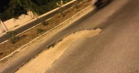 Παγίδα κίνδυνος - θάνατος σε δρόμο των Χανίων (φωτο-βίντεο)