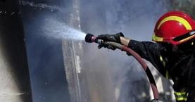 Πυρκαγιά σε συνεργείο μοτοσικλετών στο Ηράκλειο