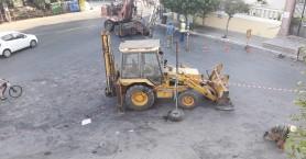 Ξεκίνησε η κατασκευή κυκλικού κόμβου στην Ευαγγελίστρια Χαλέπας στα Χανιά (φωτο)