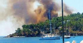 Συναγερμός στην πυροσβεστική, μεγάλες φωτιές σε Λέρο, Κέρκυρα και Μεγαλόπολη
