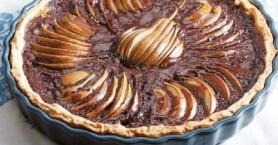 Τάρτα σοκολάτας με μήλο και αχλάδι