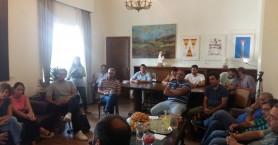 Συνάντηση σε χαλαρό αλλά & ενημερωτικό κλίμα με τους δημοσιογράφους είχε ο Π. Σημανδηράκης