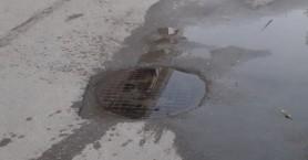 Υπερχείλισαν όμβρια ύδατα από τα φρεάτια στη Νέα Χώρα (φωτο)