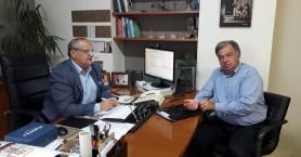Συνάντηση Γ. Λογιάδη με Μανώλη Καρτσωνάκη