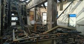 Εικόνες – σοκ από την επιχείρηση καφε μπαρ που κάηκε στα Χανιά (φωτο)