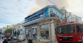 Παρανάλωμα του πυρός κτίριο στο κέντρο των Χανίων (φωτο - βίντεο)