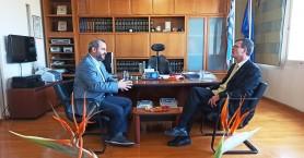 Eπίσκεψη του Πρέσβη του Καναδά στον Πρόεδρο του Επιμελητηρίου Χανίων (φωτο)