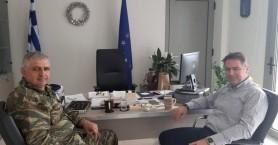 Στον Δήμο Χερσονήσου ο Διοικητής της ΣΕΑΠ Ταξίαρχος Βασίλης Βασιλειάδης