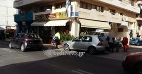 Αυτοκίνητο χτύπησε πεζό στο κέντρο των Χανίων (φωτο)