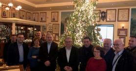 Επίσκεψη του γ.γ της ΚΕ του ΚΚΕ, Δημήτρη Κουτσούμπα στο Ιστορικό Καφέ Κήπος